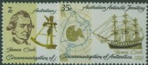 AAT SG21-22 Bicentenary of Cook's Circumnavigation of Antarctica set of 2